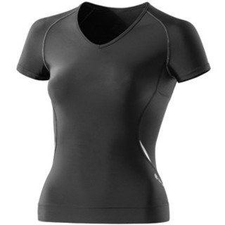 A400 Women's Compression Top with V Neck - Black