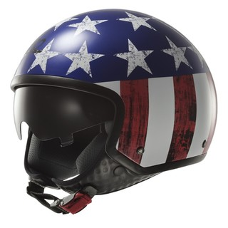 Moto Helmet LS2 Wave Raw - Blue-Red-White