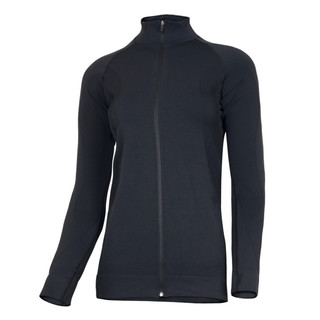 Ladies functional sweatshirt Brubeck FIT long-sleeve with zip - Black