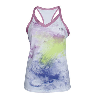 Women's sports sleeveless Newline Imotion Print Tank - White