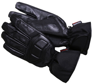 WORKER Fast motorcycle gloves - Black