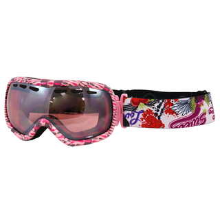 Ski Goggles WORKER Molly with graphics - Pink Graphics