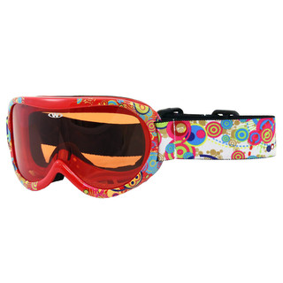 Kids ski goggles WORKER Miller with graphics - Z12-RED- red graf.