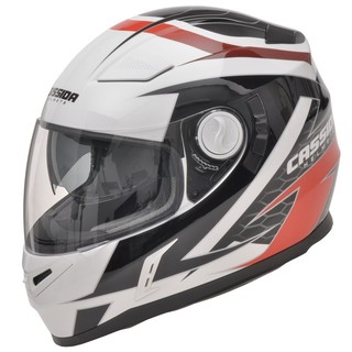 Motorcycle Helmet Cassida Evo - Black-White-Red