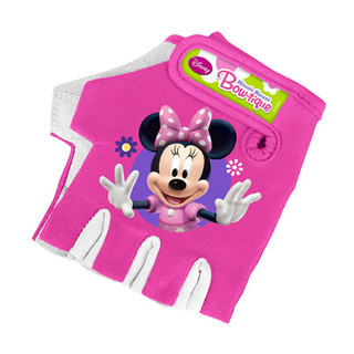 Children's Gloves Barbie Myška Minnie - pink-white
