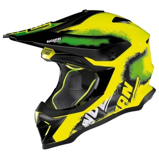 Motocross Helmet Nolan N53 Lazy Boy LED Yellow