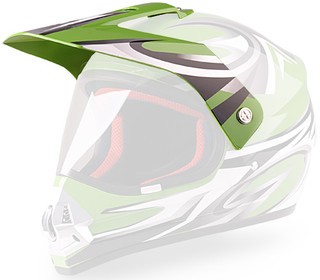 Replacement Visor for WORKER V340 Helmet - Green and Graphics