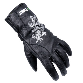 Women's Leather Gloves W-TEC Natali - Black