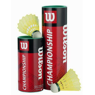 Wilson Championship badminton shuttlecocks 3 pieces