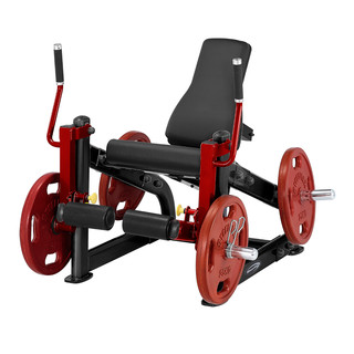 Leg Extension Machine Steelflex PlateLoad Line PLLE - Black-Red
