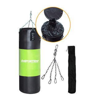 Adjustable Punching Bag inSPORTline 40-80kg - Black-Green