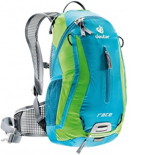 Cycling Backpack DEUTER Race X 2016 - Blue-Green