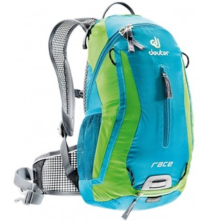 Cycling Backpack DEUTER Race 2016 - Blue-Green