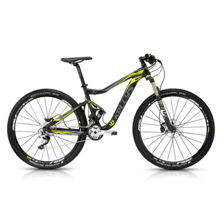 "Full Suspension Bike KELLYS Reyon 50 29"" - 2015 - Black-Yellow"