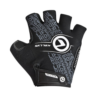 Cycling gloves KELLYS COMFORT NEW - Black-White