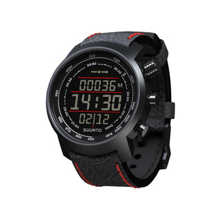 Outdoor computer Suunto Elemenum Terra  N/ Black/Red leather