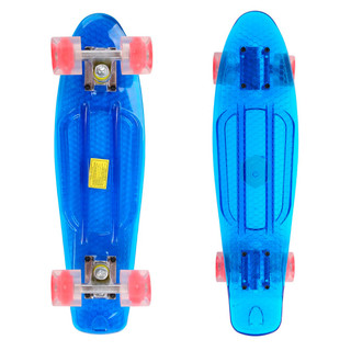 Pennyboard Maronad Retro Transparent W/ Light Up Wheels - Blue