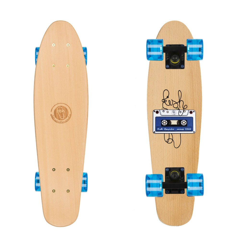 9fc39694e Penny Board Fish Classic Wood - Tape-Black-Transparent Blue. Penny board ...