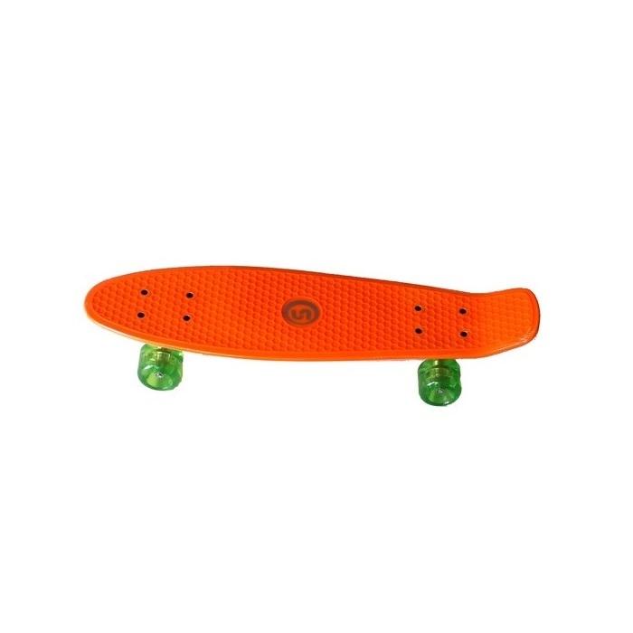"""26fa37e32 Penny Board Spartan Plastic Board 24.5"""" - Orange - inSPORTline"""