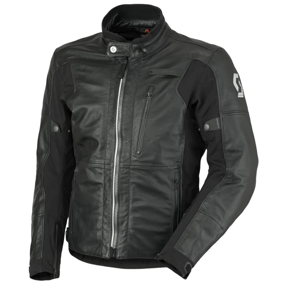 leather moto jacket scott tourance leather dp - insportline